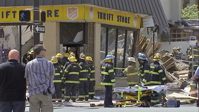 building collapse in Philadelphia salvation army thrift store